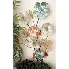 Rustic Iron Flower Bouquet Metal Wall