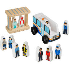 100 Melissa And Doug Trucks Off To Work Bus Set Cars Planes Baby
