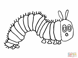 Pin Caterpillar Clipart Colouring Page 1