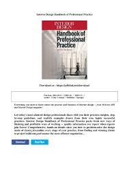 100 Download Interior Design Magazine Design Handbook Of Professional Practice