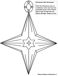 Christmas Tree Ornaments Printable Coloring Pages by Christmas Star Ornament Cutout