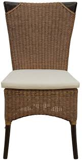 rattan stuhl mit polster küchenstuhl esszimmer stuhl