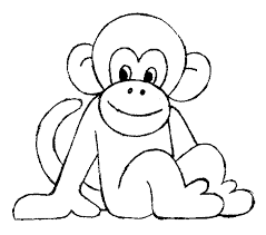 Coloring Sheets Monkey Pictures Online Pages Free