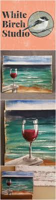 Red Wine On The Beach Painting Pallet Wall Art Chair Upcycled
