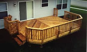 14 x 20 attached deck with grill bump out at menards