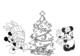 Disney Christmas Coloring Pages Free Printable