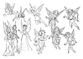 Coloring Pages Of Tinkerbell And Her Fairy Friends