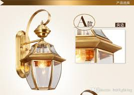 2018 antique bronze wall sconce gold color hotel ls modern