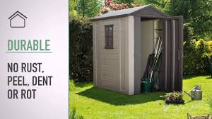 Suncast Sutton 7x7 Shed by Keter U0027s Factor 4x6 Shed Youtube