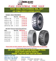 Fall Forklift Tire Special   Herculift Heavy Duty Truck Tyre For Sale Tires 29575r225 38565r225 Double Road 315 Rw 26525 E3e 28 Ply Warrior Loader Oasis Tire Center Fort Sckton Tx And Repair Shop Marcher Tire 775182590020 Commercial Semi Tbr Selector Find Or Trucking China For Tyres Price List Amazoncom Torque Fin Torque Wrench Stabilizer Stand Replacement Heavy Duty Truck Trailer