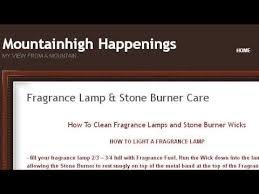 La Tee Da Lamp Stone by How To Clean Wick Stones For Fragrance Lamps Youtube