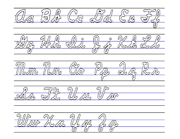 Cursive Letters Upper And Lower Case Boxfirepress