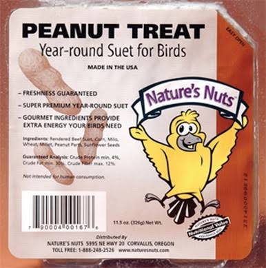 Natures Nuts 00167 11.5 oz Peanut Treat Suet