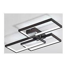 airui rechteck 3 licht deckenleuchten modern kreativ led deckenle unterputz aluminium deckenbeleuchtung für wohnzimmer schlafzimmer esszimmer black