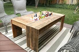 Rustic Outdoor Coffee Table Patio Coma Studio Diy