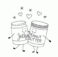 Jelly And Peanut Butter Coloring Pages