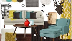 Brown And Teal Living Room by Wonderful Living Room Idea Ii Yellow And Teal Polyvore At Find