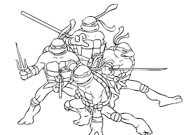Ninja Turtle Coloring Book Pictures Free Printable Colouring Pages Turtles Christmas