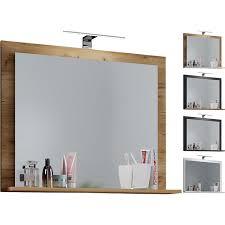 vcm spiegel badspiegel badezimmerspiegel wandspiegel ablage vcb 10