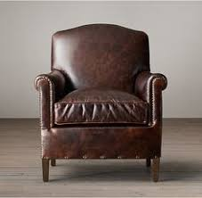 Pottery Barn Irving Chair Recliner by Irving Leather Armchair With Nailheads Pottery Barn Molasses
