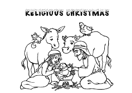Christian Christmas Coloring Pages Printable