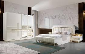 lidya schlafzimmer komplett pena 5 teilig in weiß gold