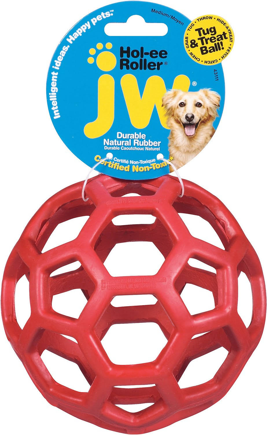 "JW Pet Holee Roller Dog Toy - 5"", Colors Vary"