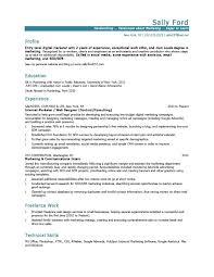 Resume Templates Marketing ResumeTemplates