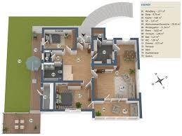 wohnhaus mit aussicht auf grossem grundstück und
