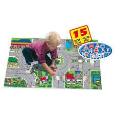 tapis de jeux voitures tapis avec 2 voitures et des accessoires motor co king jouet