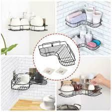 badezimmer küche dusche caddy regal dreieckige wand eckregal