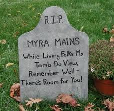 Funny Halloween Tombstones For Sale by How To Build Your Own Halloween Graveyard Hubpages