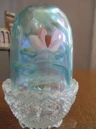 Vintage Fenton Fairy Lamps by Fenton Fairy Lamp Light Iridescent Water Lily Fairy Lamp
