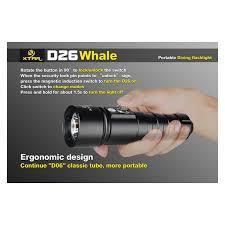 le de plongée ultra puissante xtar d26 whale 1100 lumens