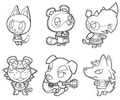 Animal Crossing Coloring Pages Perfect
