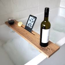 Bath Caddy With Reading Rack Uk by Create A Box Personalised Bath Caddy Rack Shelf Beech