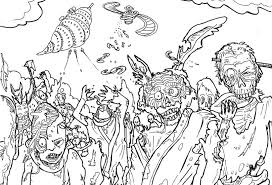 All Zombie Coloring Page Halloween Pages