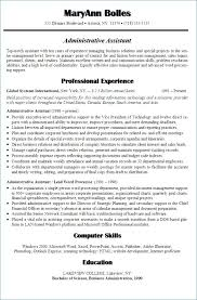 Office Administrator Resume Administrative Assistant Objective Examples Of Pdf