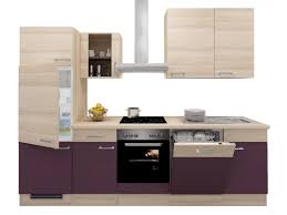 küchenzeile mit geräten 280 cm aubergine akazie otto