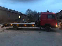 Mercedes 814 Recovery Truck Sleeper Cab Beavertail Hiab Open To ...
