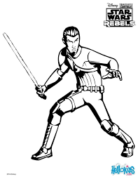 Star Wars Rebel Sabine Wren Coloring Page See More Print Out This Free Kanan And Have Fun