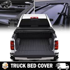 Soft Tri-fold Truck Bed Tonneau Cover 5-1/2ft Bed Cover For 2004 ...