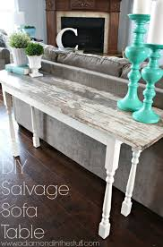 Narrow Sofa Table Behind Couch by Best 25 Sofa Table Redo Ideas On Pinterest Farmhouse Table
