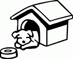 Coloring Page Of Sleeping In His Dog House