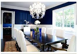 Blue White Dining Room Fabulous Navy Rooms With Mesmerizing Dark