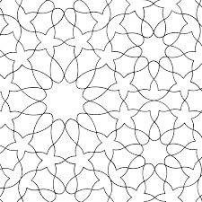 Arabic Patterns Colouring Book Line Pattern Pages