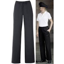 pantalon cuisine femme pantalon cuisine femme noir coupe droite taille élastiquée dos