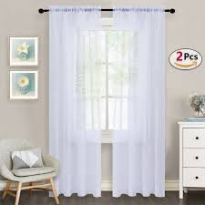 White Sheer Voile Curtains by Nicetown Sheer Curtain Panels U2013 Ease Bedding With Style