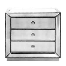 Omni Mirrored 3 Drawer Chest Stylish Silver Drawers
