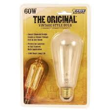original vintage style 60 watt incandescent st19 light bulb